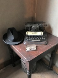 Joel Chandler Harris' typewriter, hat and glasses at the Wren's Nest in Atlanta.
